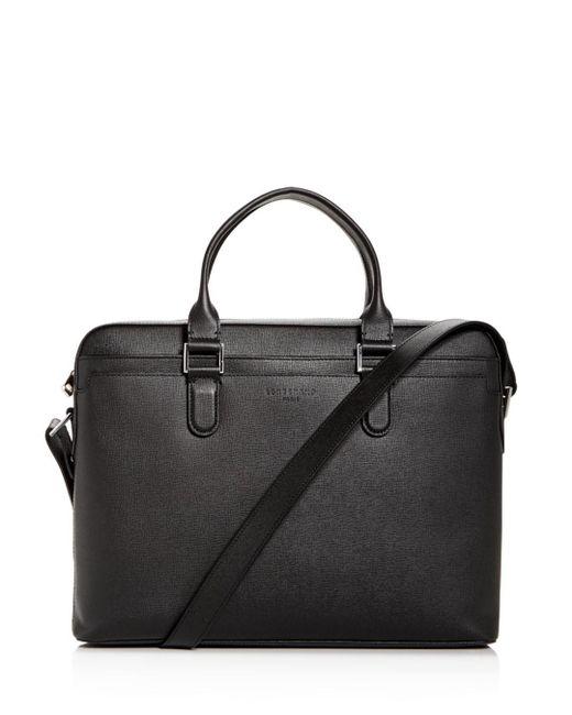 Longchamp - Black Racing Slim Leather Briefcase for Men - Lyst