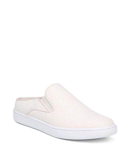 Vince - White Women's Verrell Raffia Slip-on Sneakers - Lyst
