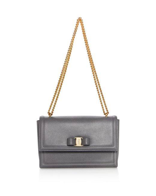 Ferragamo | Multicolor Ginny Medium Saffiano Leather Shoulder Bag | Lyst