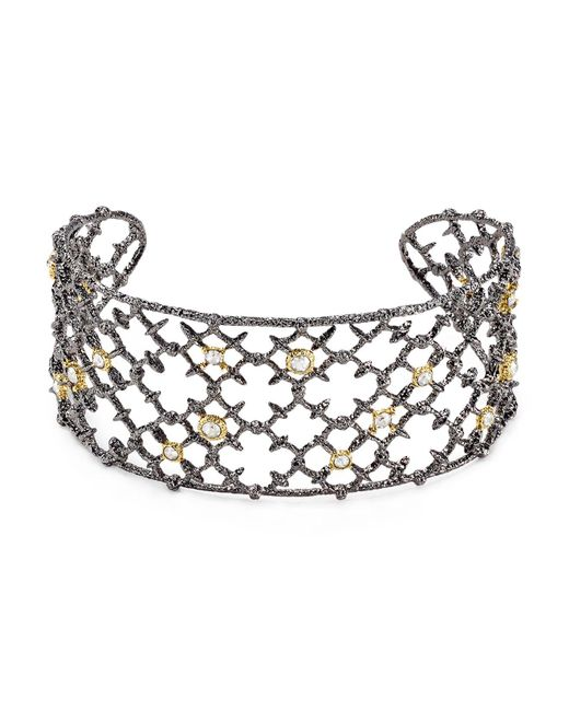 Alexis Bittar | Metallic Elements Riveted Lace Cuff | Lyst