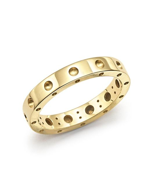 Roberto Coin | Metallic 18k Yellow Gold Symphony Dotted Ring | Lyst