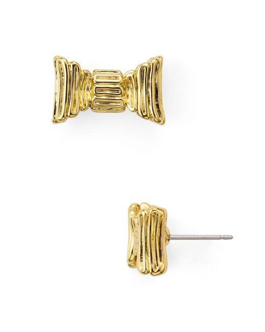 Kate Spade   Metallic Bow Stud Earrings   Lyst