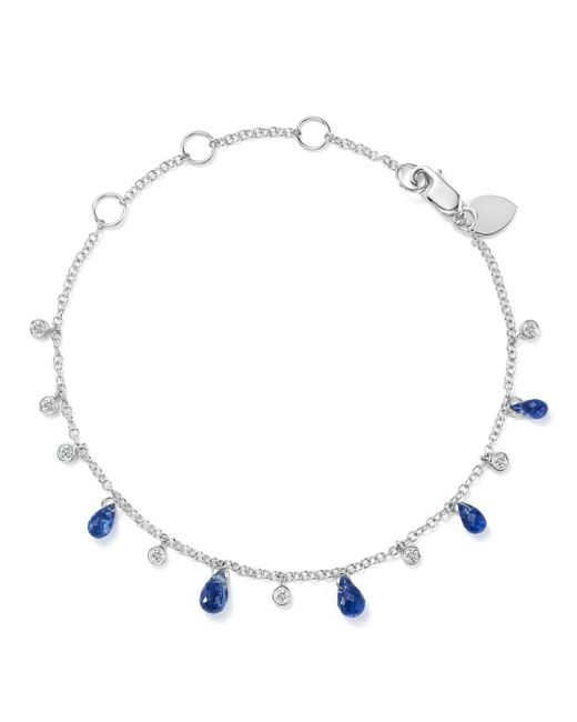 Meira T - 14k White Gold Blue Kyanite Briolette & Diamond Bracelet - Lyst