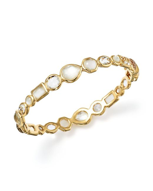 Ippolita - Metallic 18k Gold Rock Candy® Mixed Stone Bangle Bracelet In Flirt - Lyst