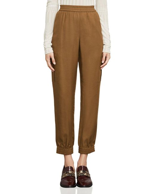 BCBGMAXAZRIA - Brown Cian Twill Cargo Pants - Lyst