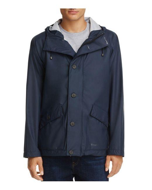 Stutterheim | Blue Stenhamra Lightweight Hooded Rain Coat for Men | Lyst