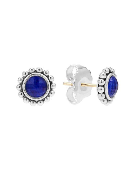 Lagos | Blue Sterling Silver Maya Lapis Doublet Small Earrings | Lyst