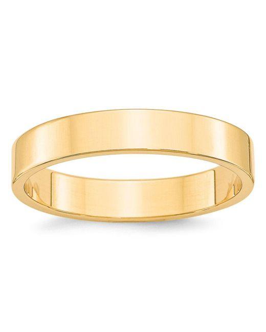 Bloomingdale's - Metallic Men's 4mm Lightweight Flat Band Ring In 14k Yellow Gold for Men - Lyst