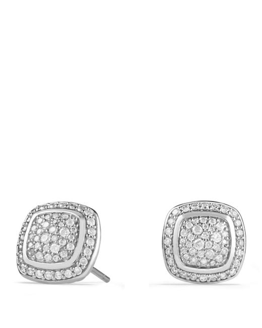 David Yurman - White 'albion' Earrings With Diamonds - Lyst