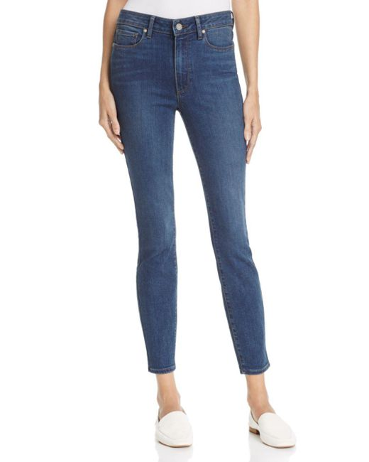PAIGE - Blue Hoxton Skinny Ankle Jeans In Eastcote - Lyst