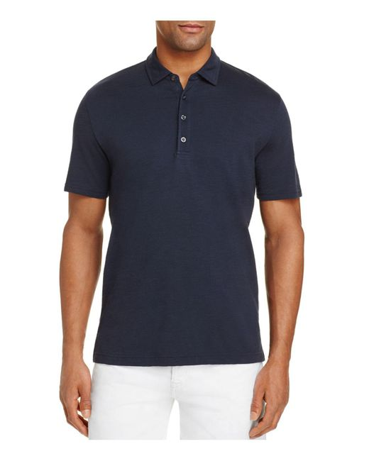 Michael Bastian - Blue Slub Polo Shirt for Men - Lyst