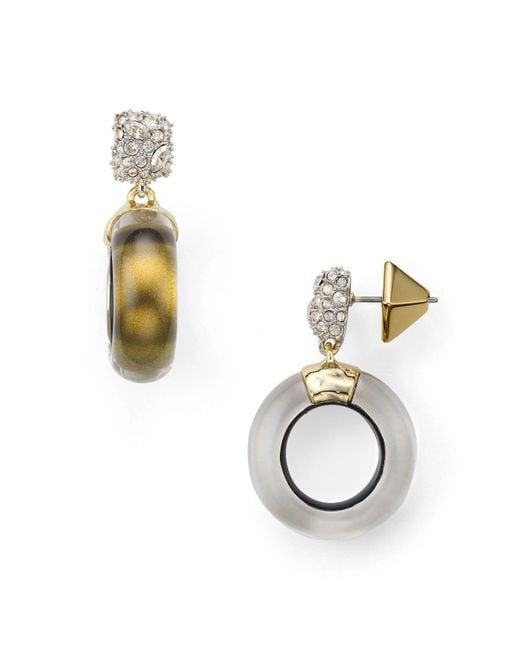 Alexis Bittar | Metallic Domed Drop Circle Earrings | Lyst
