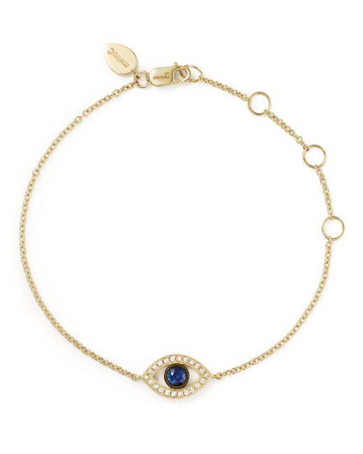 Meira T - Metallic 14k Yellow Gold Sapphire And Diamond Evil Eye Bracelet - Lyst