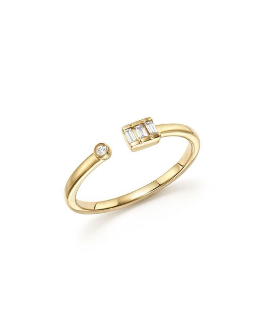 Dana Rebecca | Metallic 14k Yellow Gold Sadie Pearl Baguette Diamond Ring | Lyst