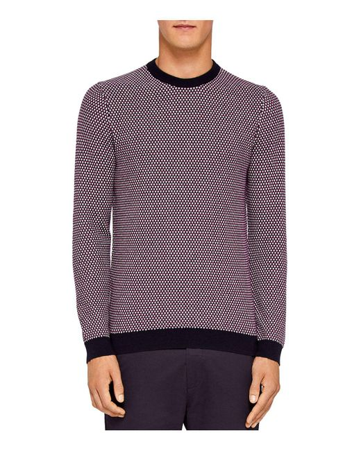 Ted Baker | Purple Coftini Triple Stitch Sweater for Men | Lyst