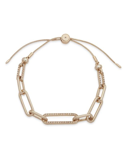 Ralph Lauren - Metallic Lauren Chain Link Slider Bracelet - Lyst