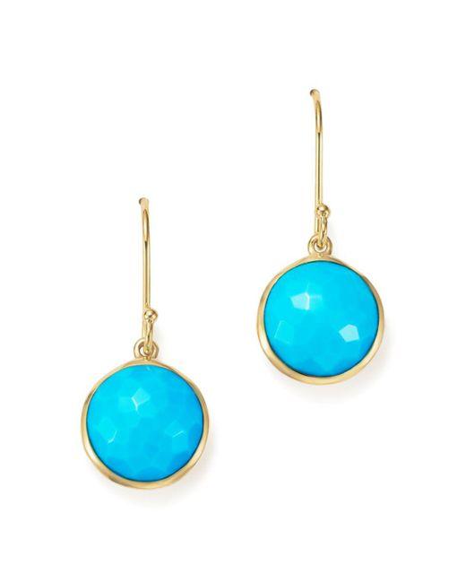 Ippolita - Metallic 18k Gold Lollipop Earrings In Turquoise - Lyst