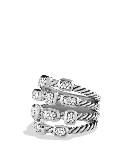 David Yurman | Metallic Confetti Ring With Diamonds | Lyst