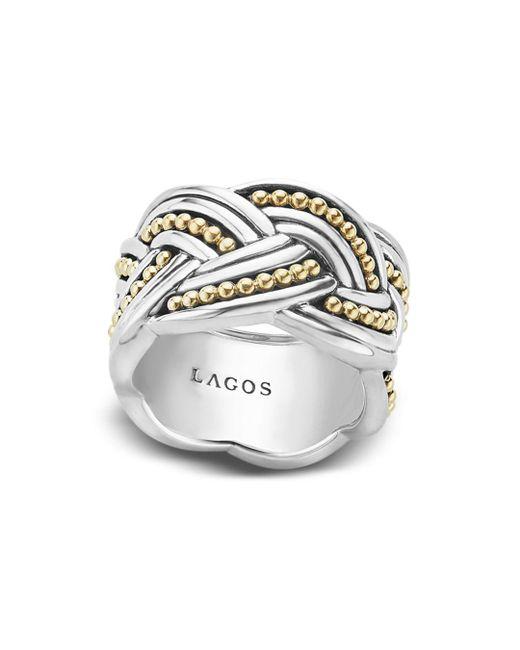 Lagos - Metallic 18k Gold & Sterling Silver Torsade Ring - Lyst