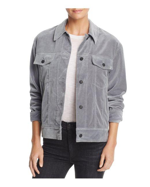 Rag & Bone | Gray Velvet Jacket | Lyst