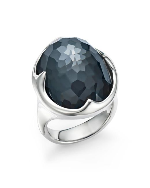 Ippolita - Metallic Sterling Silver Rock Candy® Clear Quartz And Hematite Doublet Prince Ring - Lyst