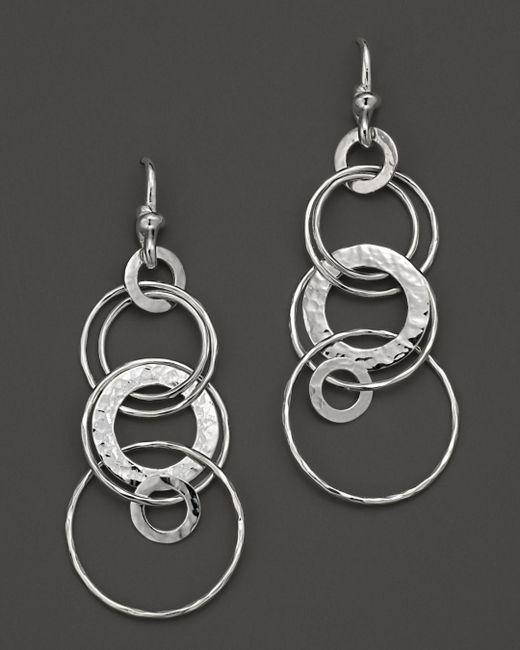 Ippolita - Metallic Sterling Silver Hammered Jet Set Earrings - Lyst