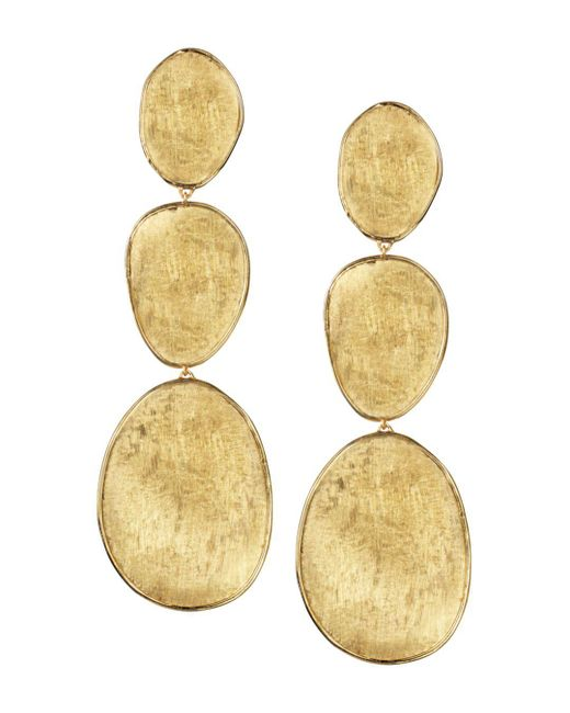 Marco Bicego - Metallic 18k Yellow Gold Lunaria Three Drop Earrings - Lyst
