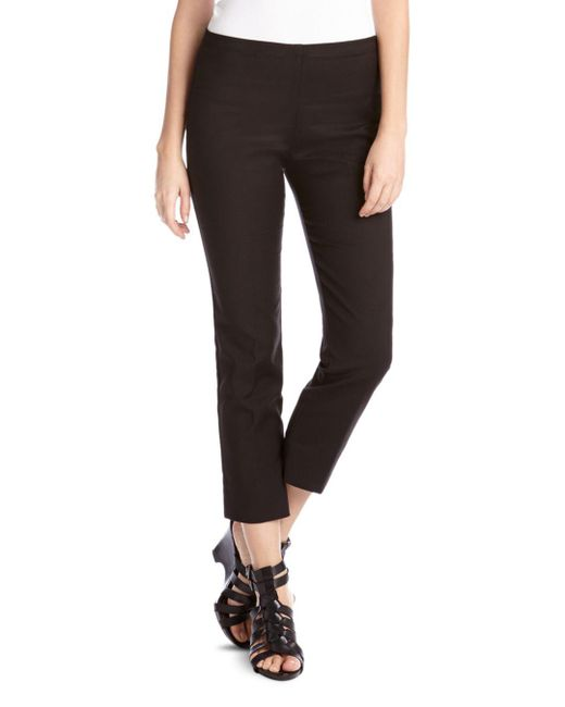 Karen Kane - Black Straight Leg Cropped Pants - Lyst