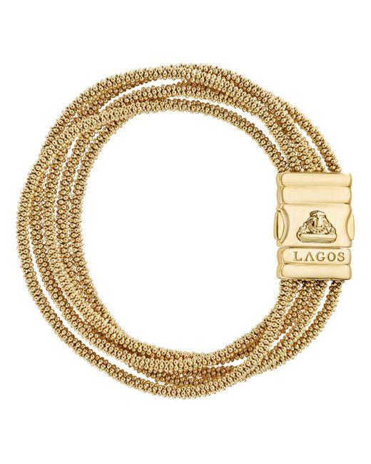 Lagos - Metallic Caviar Gold Collection 18k Gold Five Strand Bracelet - Lyst