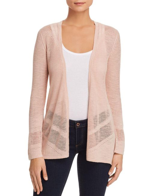Avec - Pink Lightweight Split-back Cardigan - Lyst