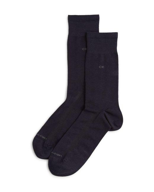 Calvin Klein | Blue Tech Cool Flat Knit Dress Socks for Men | Lyst