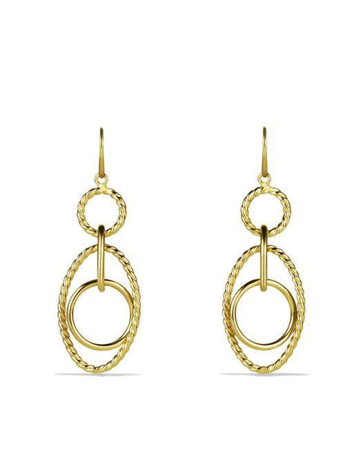 David Yurman   Yellow Mobile Small Link Earrings In Gold   Lyst