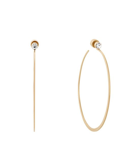 Michael Kors - Metallic Hoop Earrings - Lyst