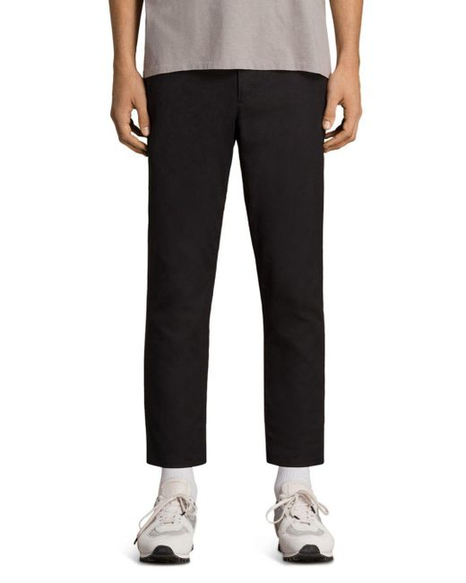 AllSaints - Black Kato Slim Fit Trousers for Men - Lyst