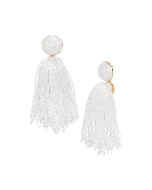 BaubleBar - White Sonatina Tassel Earrings - Lyst