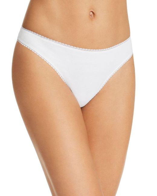 On Gossamer - White Cabana Stretch Cotton Hip G-string - Lyst