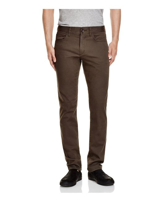 Vince | Gray Essential Soho Slim Fit Twill Chinos for Men | Lyst