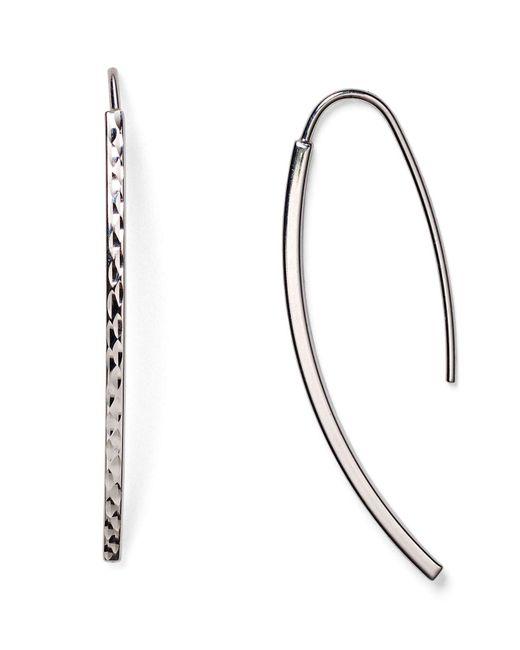Argento Vivo | Metallic Textured Threader Earrings | Lyst
