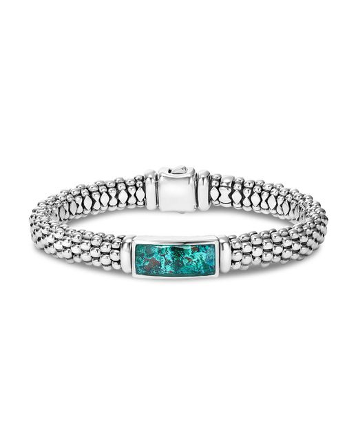 Lagos | Metallic Sterling Silver Maya Escape Chrysocolla Doublet Rope Bracelet | Lyst