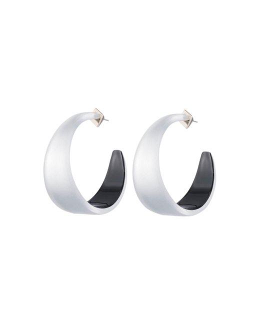 Alexis Bittar - Metallic Lucite Hoop Earrings - Lyst