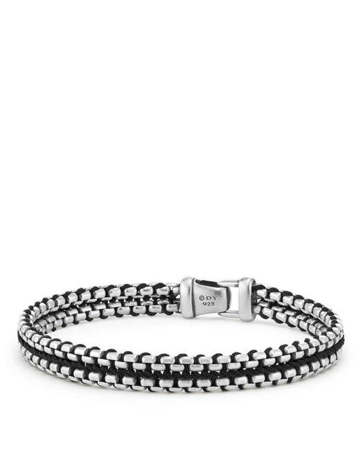 David Yurman - Metallic Woven Box Chain Bracelet In Black for Men - Lyst