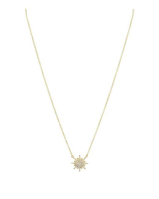 "Aqua   Metallic Star Pendant Necklace 16""   Lyst"
