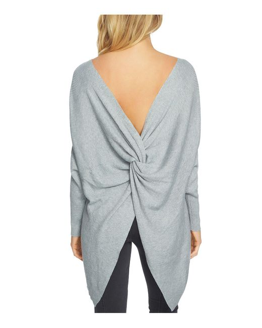 1.STATE | Gray Knotted Rib-knit Sweater | Lyst