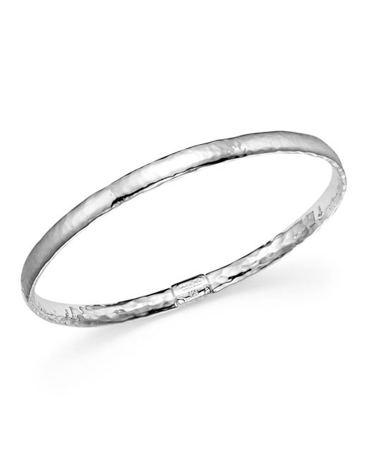 Ippolita - Metallic Sterling Silver Basic Hammered Bangle - Lyst