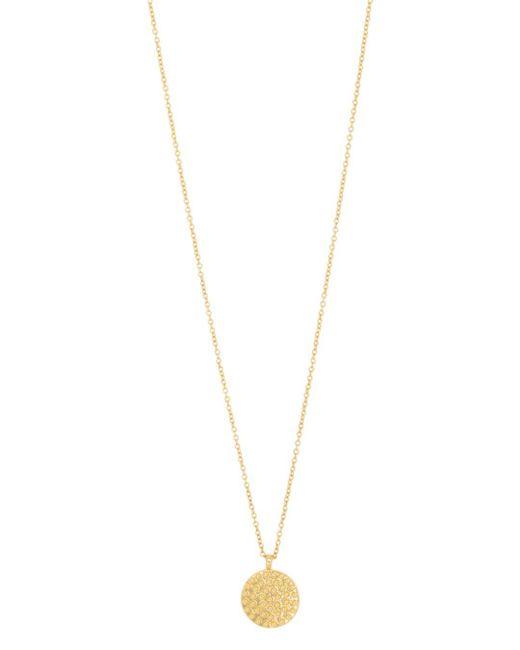Gorjana - Metallic Bali Textured Disc Pendant Necklace - Lyst