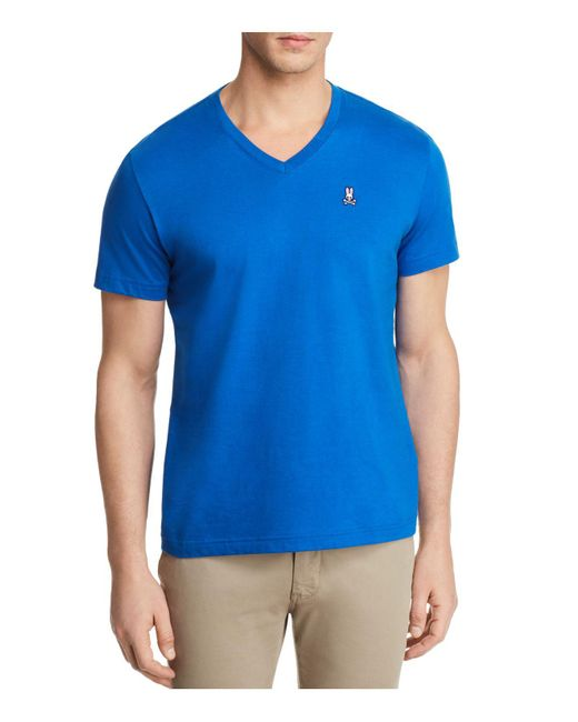 Psycho Bunny - Blue Classic V-neck Tee for Men - Lyst