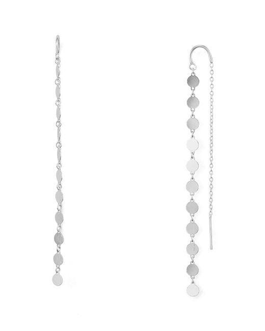 Argento Vivo | Metallic Station Threader Earrings | Lyst
