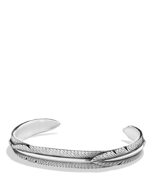 David Yurman - Metallic Feather Wrap Cuff Bracelet - Lyst