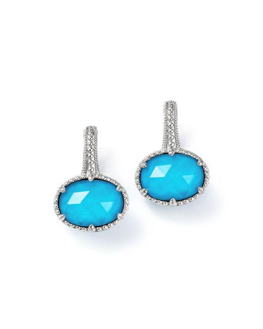 Judith Ripka | Blue Sterling Silver Eclipse Turquoise Doublet Earrings | Lyst