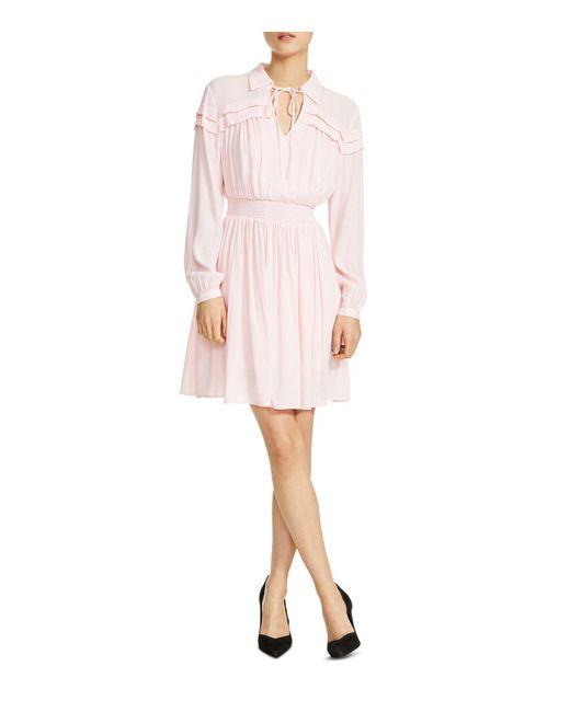 Maje - Purple Rubin Smocked Blouson Dress - Lyst
